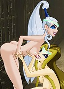 Winx witches fuck each other with strapons