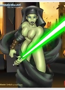 Queen Amidala strips off and gets cock