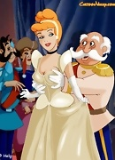 The King gets a royal blowjob from Cinderella